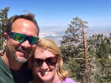 Chuck and Lori's Travel Blog - On Top of Mt. San Jacinto, California