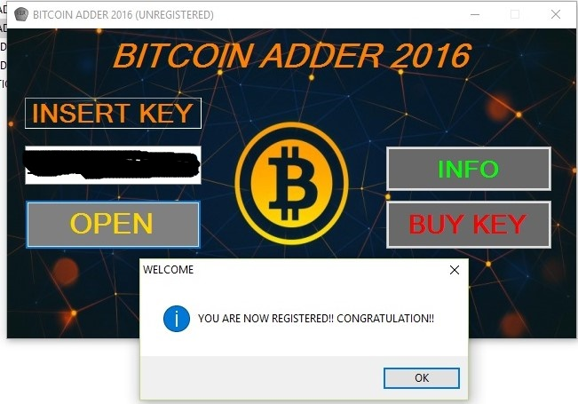 bitcoin adder 2016 activation key