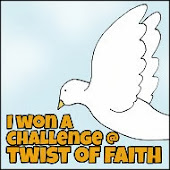 Twist of faith winner's badge