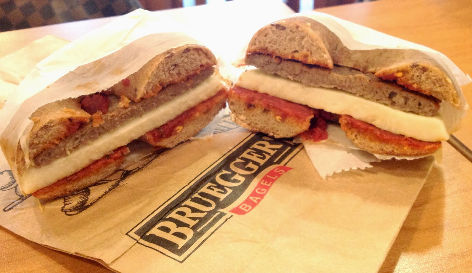 The Food Hussy!: Bruegger's new Breakfast Items: Chimi-Cheddar Egg ...