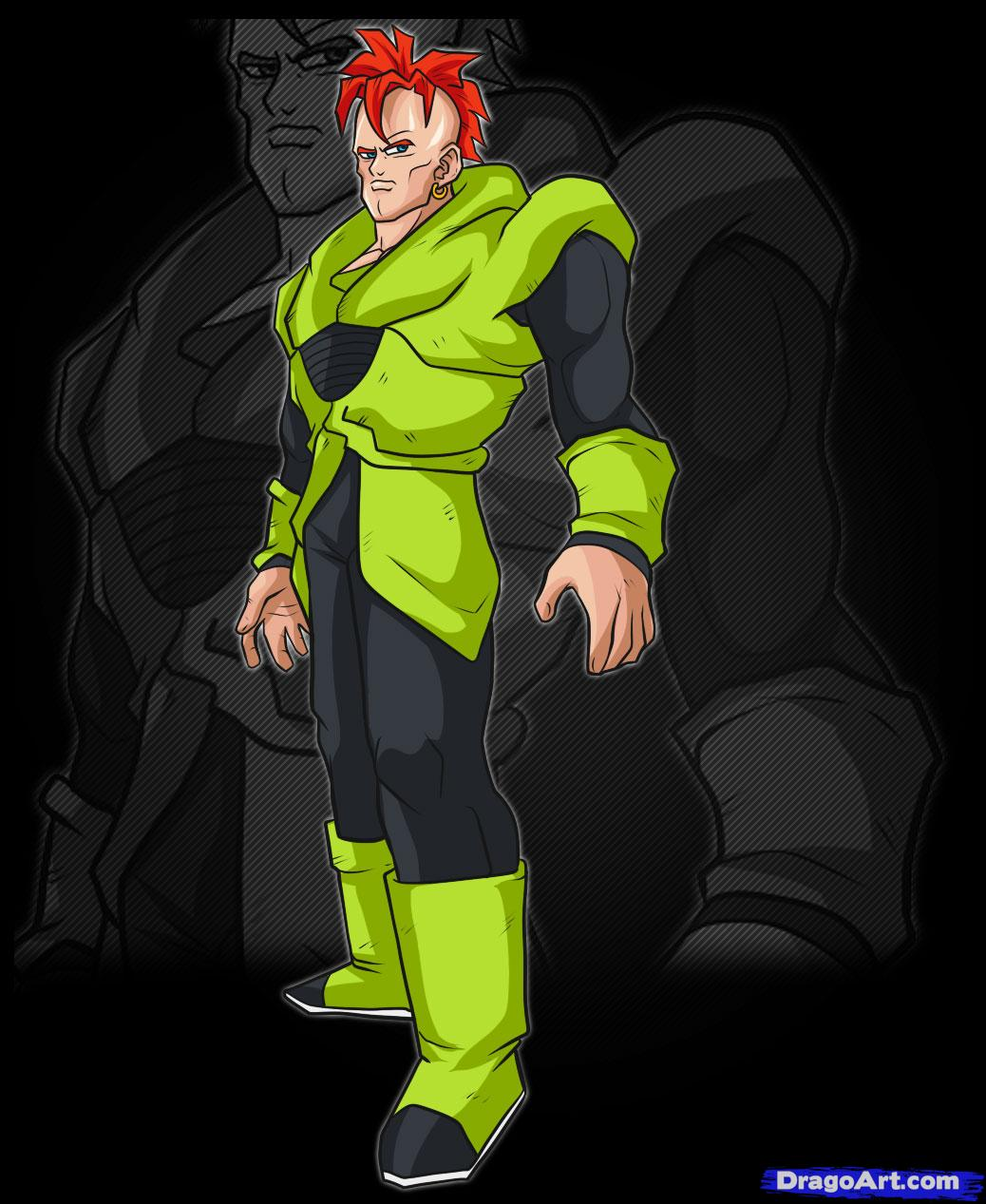 Dragon Ball Characters: Android #16 Dragonball Dbz Gt