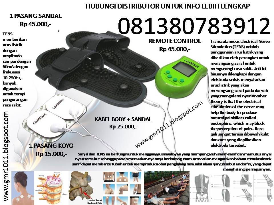 harga sandal sunmas foot massager Rp 45.000,-