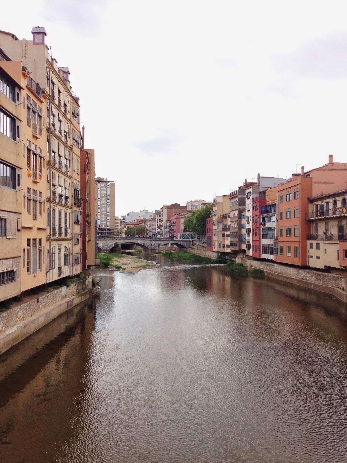 View from Eiffel Bridge Girona Spain