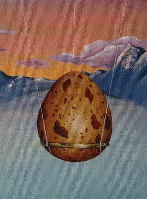 Fragility-Хрупкость-Elena-Malkova-Art-acrylic-painting-яйцо-жизнь-горы-облака-мыльные-пузыри-кольцо