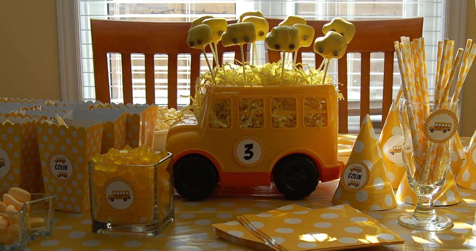 School Themed Birthday Party School Bus Themed Birthday