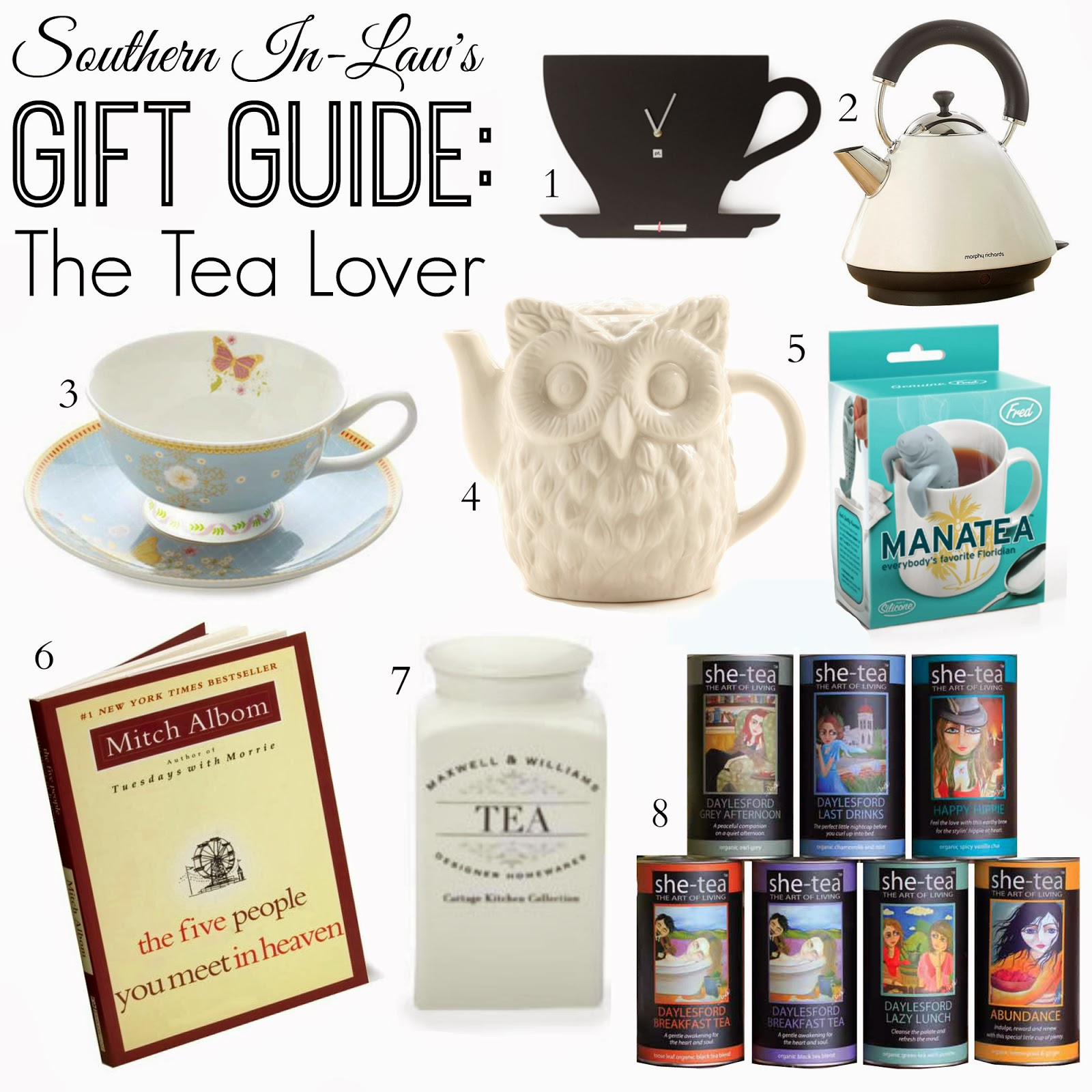 Southern in law gift guide for the tea lover for Christmas gift ideas for kitchen lovers