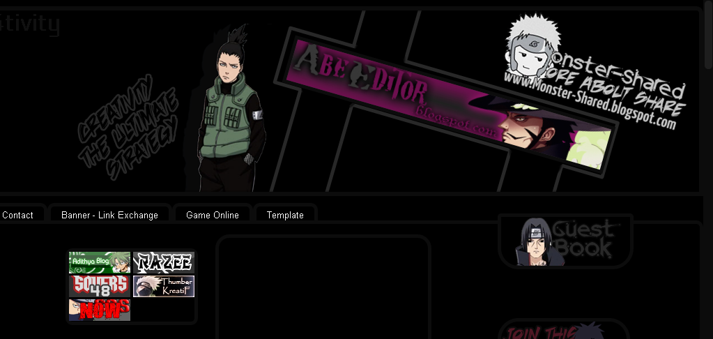 Template shikamaru dark shadow