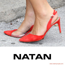 Queen Maxima Style NATAN Slingback Pumps and NATAN Dress
