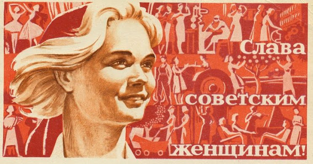 Glory to the Soviet women! Soviet postcards.