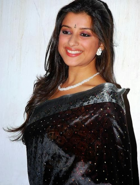 Madhurima In Black Saree