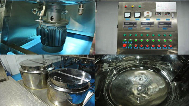 vacuum mixer mélangeur sous vide mezclador de vacío vacuum investment mixer homogenizer emulsifier