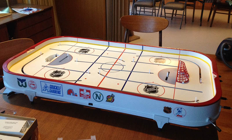 Grickle things: How\'s that hockey table coming?