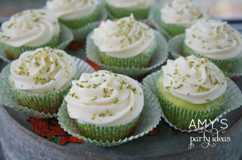 key lime cupcakes party ideas