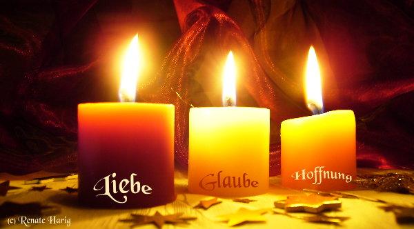 Kerze 1 und 2