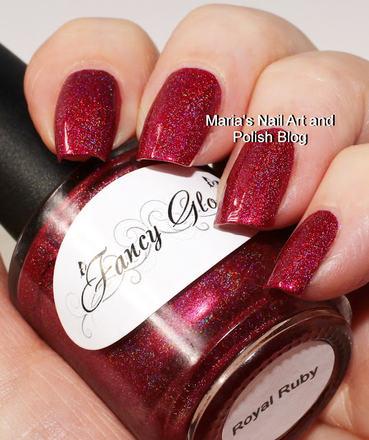 Marias Nail Art And Polish Blog Flushed With Stripes And: Marias Nail Art And Polish Blog: Fancy Gloss Royal Ruby