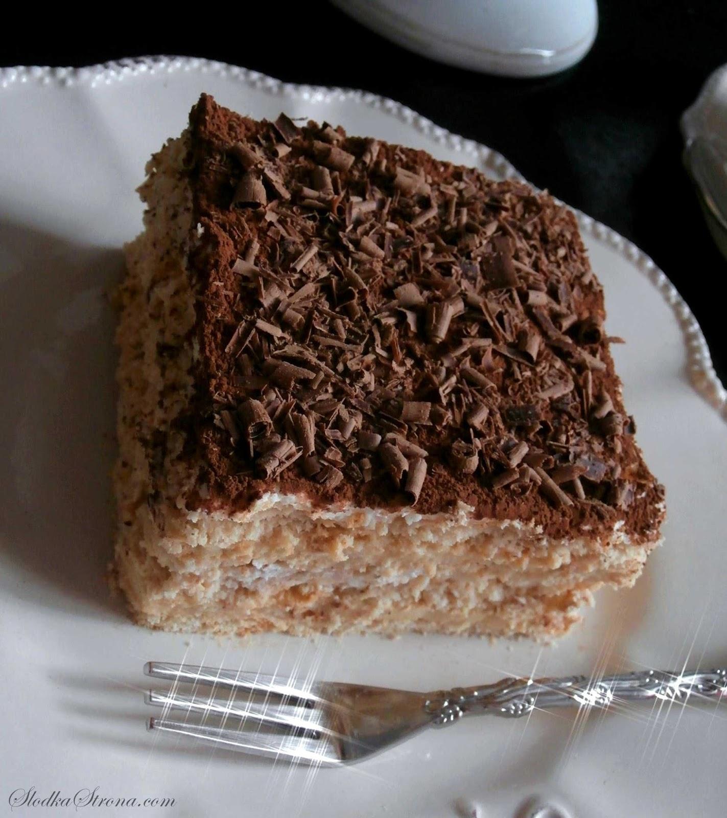 Ciasto Cappuccino (bez pieczenia) - Przepis - Słodka Strona