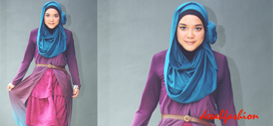 Baju Muslim Gradasi Pink Loves Blue