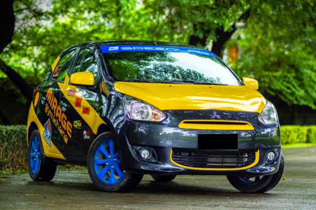 Modifikasi Mobil Mitsubishi Mirage Rally
