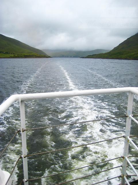 View from The Connemara Lady cruise boat, Killary Fjord, Ireland
