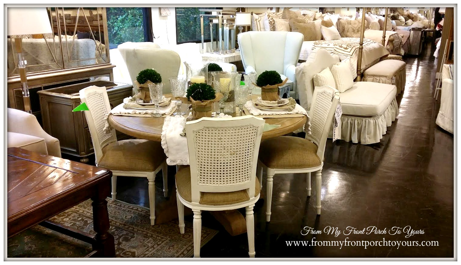 Laurie's Home Furnishings-Farmhouse Round Dining Table- From My Front Porch To Yours
