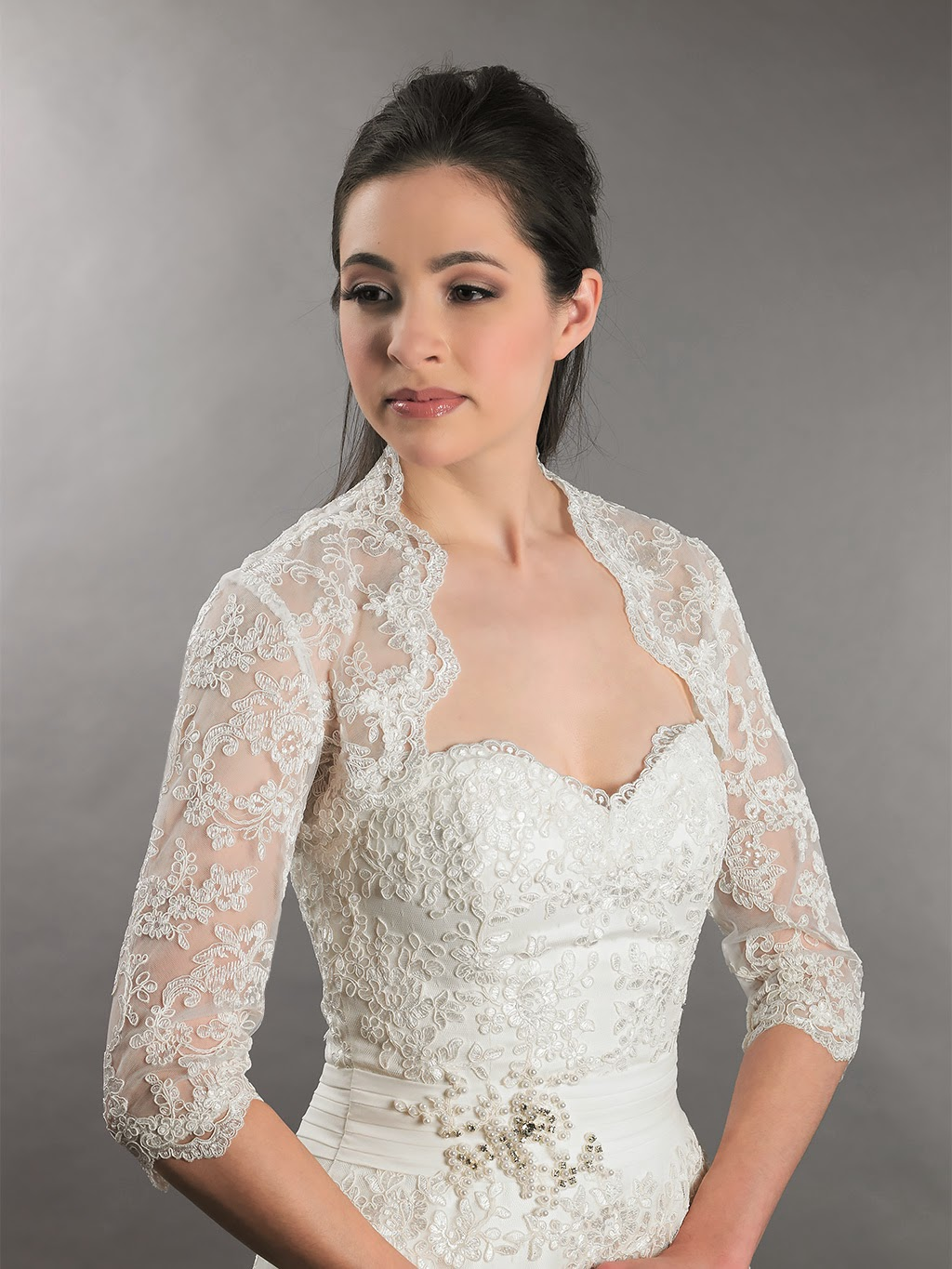 Happy wedding lace bolero designs 2015 fashionate trends for Wedding dress lace bolero