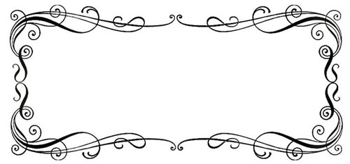 calligraphy border  border  borders  free clipartVintage Label Outline