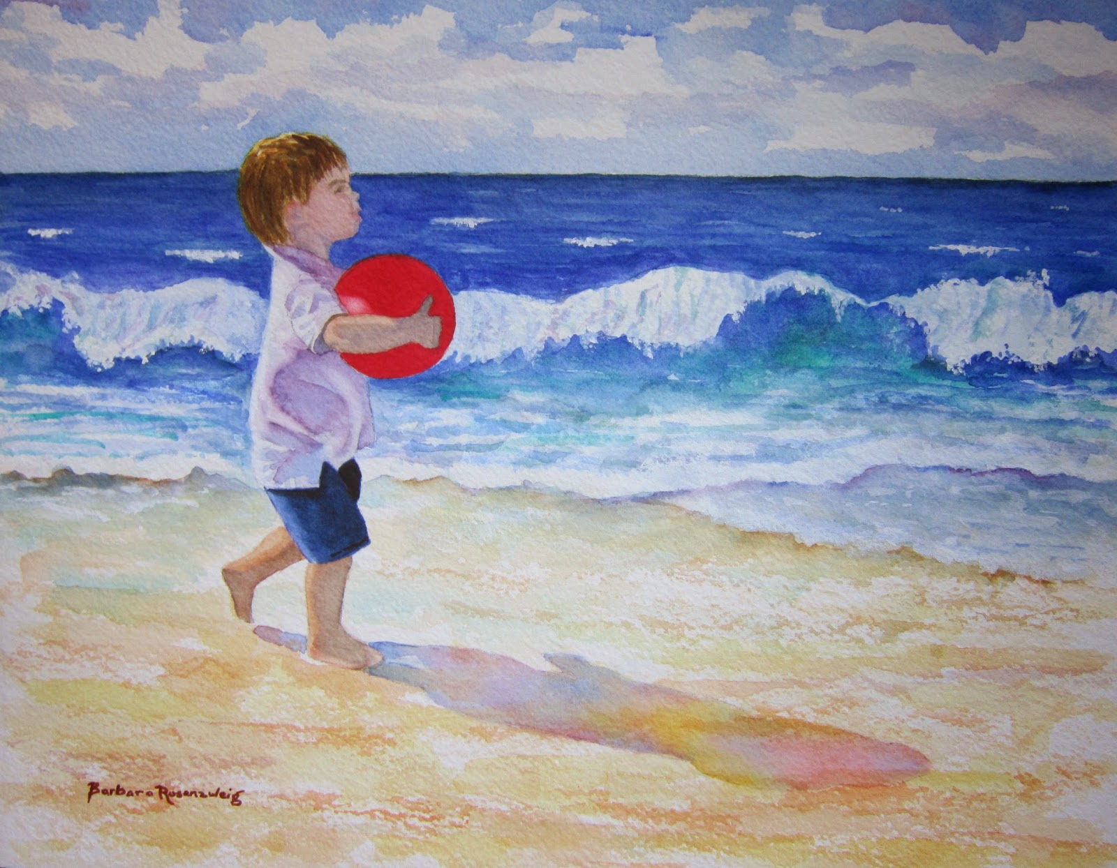 https://www.etsy.com/listing/196109345/beach-boy-red-ball-seashore-art-painting?