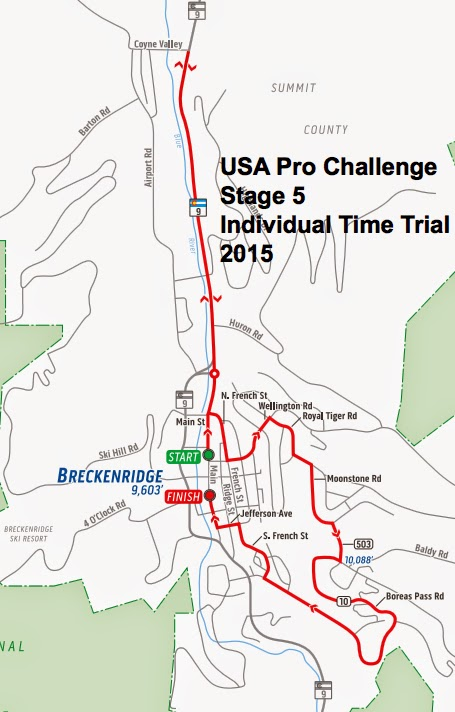 USA Pro Challenge Stage 5 Breckenridge Time Trial 2015