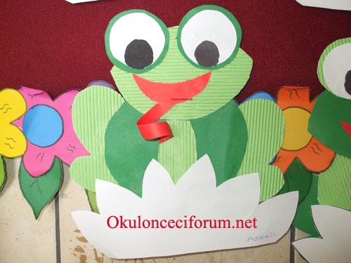 Okul Öncesi Artık Materyal Kurbağa