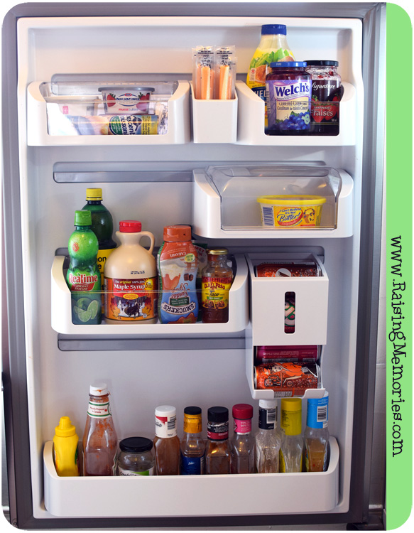 We wanted to mention that we really like that the bins for the fridge door don\u0027t ... & Raising Memories: Loving An Organized Fridge! Pezcame.Com