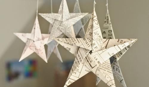 świąteczne gwiazdki origami