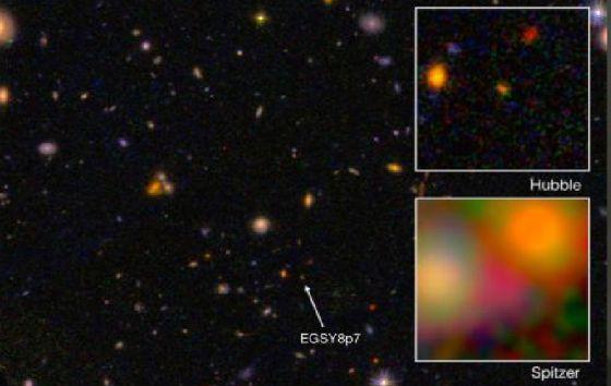 Galaxia más lejana del universo.