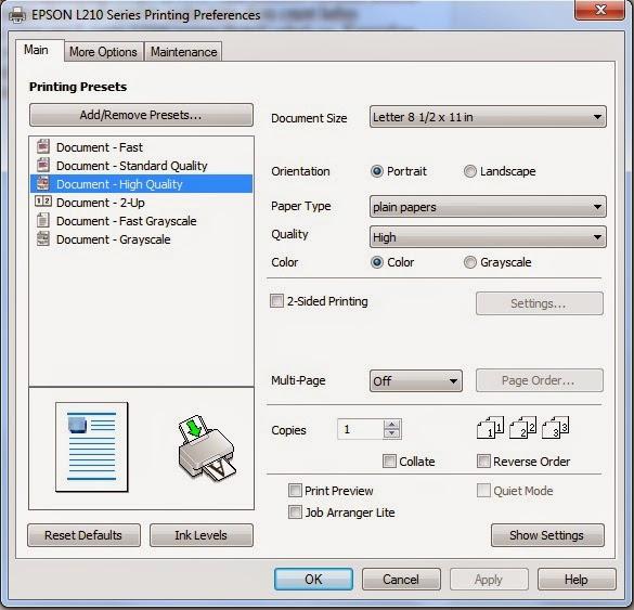 Printer Epson L210 Bergaris Bagi Ilmu