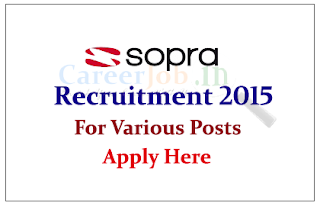 Sopra Group India Private Limited Hiring Freshers and Experienced professionals for the various posts