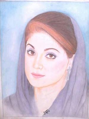 Artwork On Maryam Nawaz Sharif Great Work
