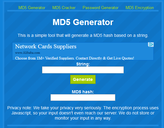 MD5 Generator Dot Net