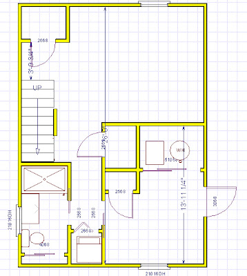 Diy wued here round beehive plans for Basement floor plans with stairs in middle