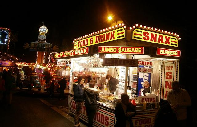 food and drink van christmas lights fair swadlincote 2012