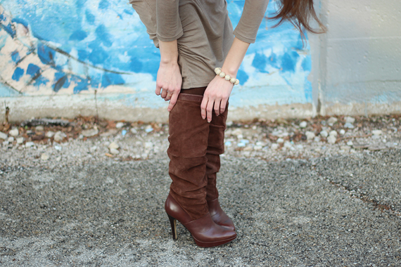 StyleSidebar - Suede and Leather Brown Boots