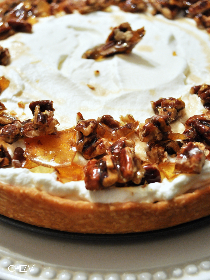 Chez V The Food Chronicles Maple Pumpkin Pie With Salted Pecan Brittle