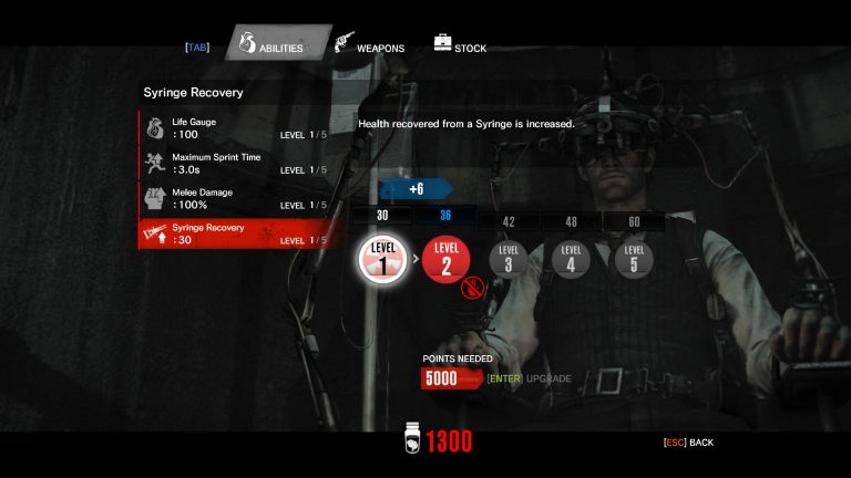 The Evil Within Upgrade System