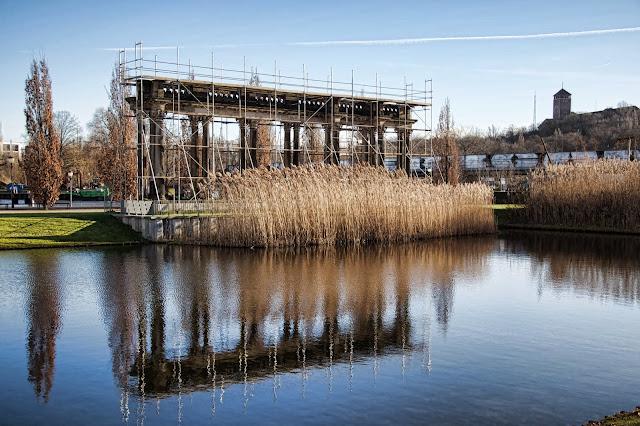 Baustelle Potsdam, Kolonade Weiße Flotte, Lustgarten, 14473 Potsdam, 11.01.2014