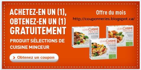 Coupons et circulaires 1 50 sur lean cuisine minceur for Blog cuisine minceur