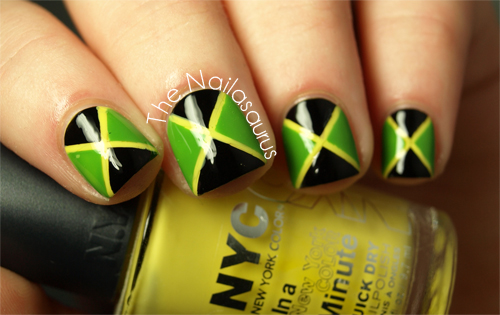 31dc2012 Day 28 Inspired By A Flag Jamaica The Nailasaurus