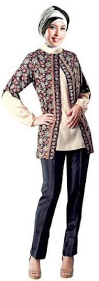 Model baju batik muslim remaja untuk kuliah