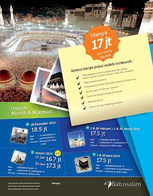 Jadwal dan Biaya Paket Umroh 2014-2015