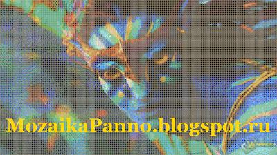 Картина из стеклянной мозаики «Аватар». Размер мозаичной плитки — 10*10 мм.