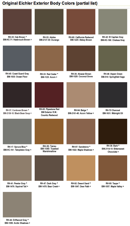 Mad for mid century eichler mid century exterior paint colors for Cabot s exterior stain colours