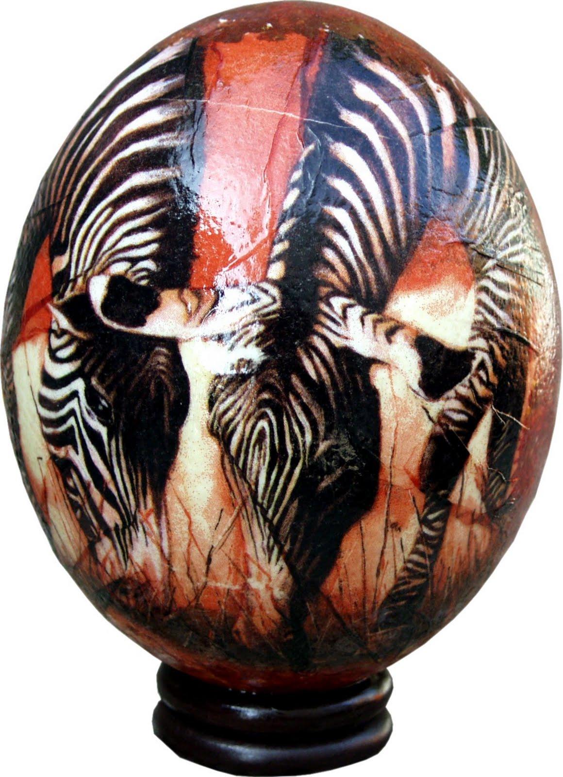 huevos de avestruz artesania