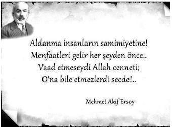 Mehmet Akif Ersoy'dan